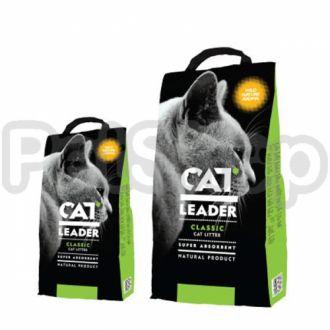 Кэт Лидер (CAT LEADER) с WILD NATURE супер-впитывающий наполнитель в кошачий туалет