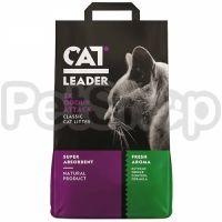 Cat Leader Classic 2xOdour Attack Fresh КЭТ ЛИДЕР КЛАССИК ДВОЙНАЯ СВЕЖЕСТЬ супер впитывающий наполнитель в кошачий туалет