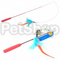 Coastal Turbo Tail Teaser КОСТАЛ ТУРБО ТЕЙЛ ТИЗЕР игрушка удочка для котов, дразнилка, оранжевый хвост, перья