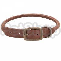 Coastal Circle T круглый кожаный ошейник для собак, 1,6х60см