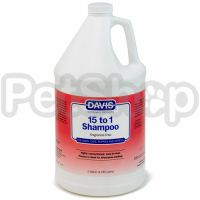 Davis 15 to 1 Shampoo Fragrance-Free ДЭВИС 1:15 шампунь без запаха для собак, котов, концентрат
