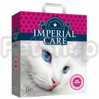 ИМПЕРИАЛ КАРЕ С АРОМАТОМ ДЕТСКОЙ ПУДРЫ (Imperial Care Baby Powder) ультра-комкующийся наполнитель в кошачий туалет