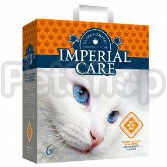 ИМПЕРИАЛ КАРЕ С ИОНАМИ СЕРЕБРА (Imperial Care Silver Ions) ультра-комкующийся наполнитель в кошачий туалет с антибактериальным свойством