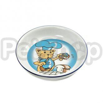 Karlie-Flamingo CAT&FISH миска кот и рыба для собак и кошек, керамика