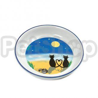 Karlie-Flamingo CAT&MOON миска кот и луна для собак и кошек, керамика