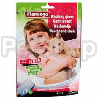 Karlie-Flamingo (Карли-Фламинго) WASHING GLOVE CAT рукавица-салфетка для мытья без воды для котов