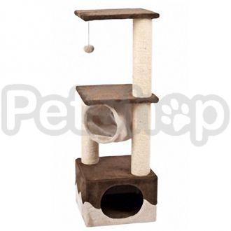 Karlie-Flamingo (Карли-Фламинго) SURFER BROWN-BEIGE когтеточка игровой комплекс для кошек, с домиком и мячиком, коричнево-бежевый, 40х40х108см