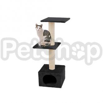 Karlie-Flamingo (Карли-Фламинго) SMARAGD BLACK когтеточки игровой комплекс для кошек, 2 уровня, черный, 35х42х103см