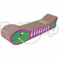 Flamingo Fish Bone Scratching Board ФЛАМИНГО РЫБНАЯ КОСТЬ картонная когтеточка для котов