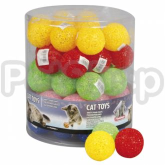 Karlie-Flamingo (Карли-Фламинго) GLITTER BALL игрушка мяч для кошек, латекс