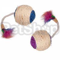 Flamingo Bouly Sisal Ball Feather ФЛАМИНГО СИЗАЛЕВЫЙ МЯЧ с перьями игрушка для котов