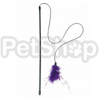 Karlie-Flamingo (Карли-Фламинго) ROD PLUMEAU игрушка для кошек удочка дразнилка с пером, 47см