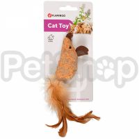 Flamingo Adamello Mouse Soft Wood ФЛАМИНГО АДАМЕЛЛО МЫШЬ пробковая, игрушка для котов с кошачьей мятой