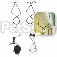 Flamingo Doorhanger Mouse ФЛАМИНГО МЫШКА со звуковым чипом, подвес на дверь, интерактивная игрушка для котов