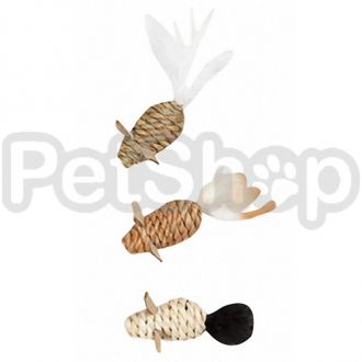 Karlie-Flamingo (Карли-Фламинго) MICE SEAWEED NATURE мышка игрушка для кошек, веревочная плетеная