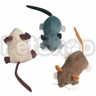 Karlie-Flamingo (Карли-Фламинго) MOUSE CRAWLING игрушка мышка для кошек с кошачьей мятой, плюш, 7х5х3,5 см