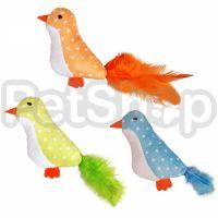 Flamingo Bird Feather ФЛАМИНГО ПТИЧКА с перьями игрушка с кошачьей мятой для котов