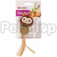 Flamingo Catnip Owl ФЛАМИНГО СОВА игрушка с кошачьей мятой для котов