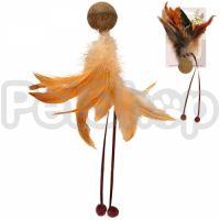 Flamingo Catnip Ball & Feather ФЛАМИНГО МЯЧ С ПЕРЬЯМИ игрушка с кошачьей мятой для котов