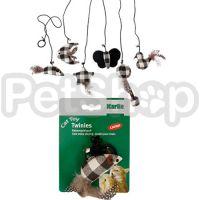 Karlie-Flamingo (Карли-Фламинго) TWINIES BLACK-WHITE игрушки для кошек с кошачьей мятой, черно-белый текстиль, 11см