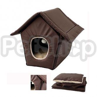 Karlie-Flamingo COSY COTTAGE BROWN кози котедж домик для котов