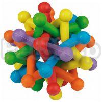 Karlie-Flamingo (Карли-Фламинго) ATOM COLORED разноцветный плетеный мяч игрушка-атом для собак, резина