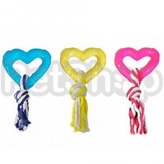 Karlie-Flamingo (Карли-Фламинго) GOOD4FUN HART WITH ROPE игрушка для собак, сердце с веревкой, резина