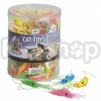 Karlie-Flamingo (Карли-Фламинго) PLASTIC SHRIMP игрушка для кошек, креветка латекс, 1,5х6см