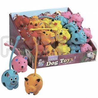 Karlie-Flamingo (Карли-Фламинго) LONG TAIL игрушки для собак, забавные зверьки длиннохвостые, латекс