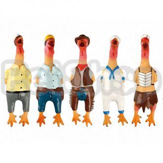 Karlie-Flamingo CHICKEN VILLAGE PEOPLE сельская курица игрушка для собак, латекс