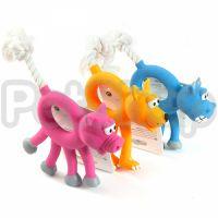 Flamingo Animal With Rope ФЛАМИНГО ЭНИМАЛ ВИЗ РОУП игрушка для собак, зверек с веревкой, латекс