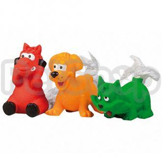 Karlie-Flamingo (Карли-Фламинго) TOYS игрушки для собак, жеребенок, щенок, котенок, хвост из каната, латекс