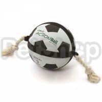 Flamingo Actionball ФЛАМИНГО игрушка для собак, футбольный мяч на веревке, резина