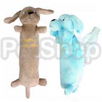 Karlie-Flamingo (Карли-Фламинго) BUDDY HARRY игрушка для собак, мягкая игрушка для пластиковой бутылки внутри