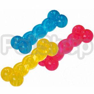 Karlie-Flamingo (Карли-Фламинго) GOOD4FUN BONES 18 игрушка для собак, кость из литой прозрачной резины, не тонущая
