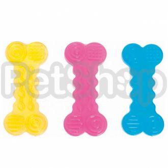 Karlie-Flamingo (Карли-Фламинго) GOOD4FUN BONE игрушка для собак, рельефная яркая косточка, резина