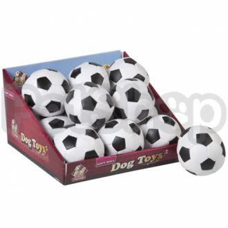 Karlie-Flamingo SOCCERBALL сокербол игрушка для собак, мяч черно-белый маленький, искусственная кожа