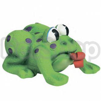 Karlie-Flamingo (Карли-Фламинго) FROG POP-UP TONGUE игрушка для собак и щенков, лягушка с языком, латекс
