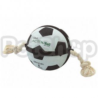 Karlie-Flamingo ACTIONBALL SOCCER BALL футбольный мяч на веревке игрушка для собак, резина