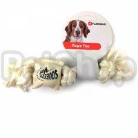 Flamingo Cotton Rope Squeaker ФЛАМИНГО КОТОН РОУП СКВИКЕР канат с пищалкой игрушка для собак