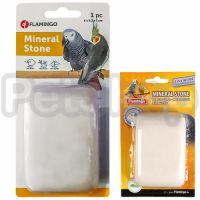 Flamingo Mineral Stone ФЛАМИНГО минеральный камень для птиц с витаминами, 6х9,2х3 см