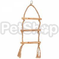 Flamingo Parakeet Toy Rope Swing ФЛАМИНГО ВЕРЕВОЧНЫЕ КАЧЕЛИ игрушка для попугаев