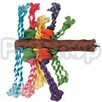 Flamingo Parrot Toy Perch ФЛАМИНГО ЖЕРДОЧКА с игрушками для крупных попугаев