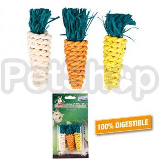 Karlie-Flamingo (Карли-Фламинго) SMALL CARROTS игрушка для грызунов в виде морковки, для гигиены зубов, 3шт, 2х8см