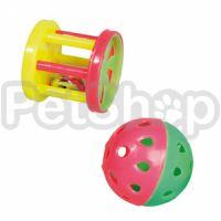 Karlie-Flamingo (Карли-Фламинго) CIRCUS игрушка для грызунов с колокольчиком, пластик, 2шт, 4см