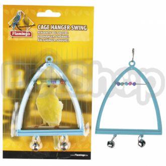 Karlie-Flamingo (Карли-Фламинго) SWING+ABACUS+BELL жердочка колокольчик и счеты игрушка для птиц