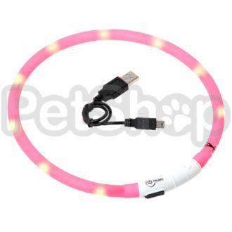 Karlie-Flamingo (Карли-Фламинго) VISIO LIGHT LED светящийся ошейник для собак, 70см