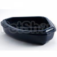 Moderna КОЗИ угловой туалет с бортиком для котов, 55Х45Х14 см