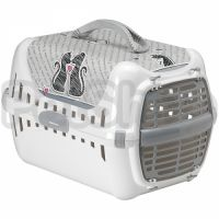 Moderna Trendy Runner Cats In Love МОДЕРНА ТРЕНДИ РАННЕР переноска для котов c пластиковой дверцей, 49х32х30 см