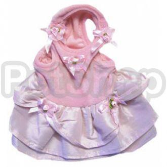 MonkeyDaze ОЧАРОВАШКА (Pink velour dress) розое велюровое платье, одежда для собак